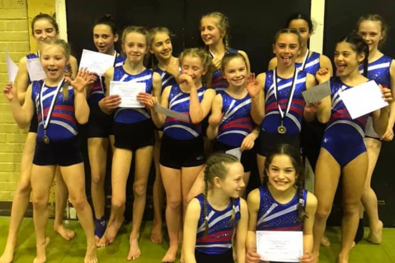 Lots of laughs at the Competition - The Display Squad take part in Aerial Tumbling Competition