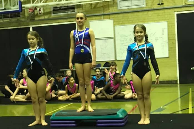 Olivia wins Gold - The Display Squad take part in Aerial Tumbling Competition