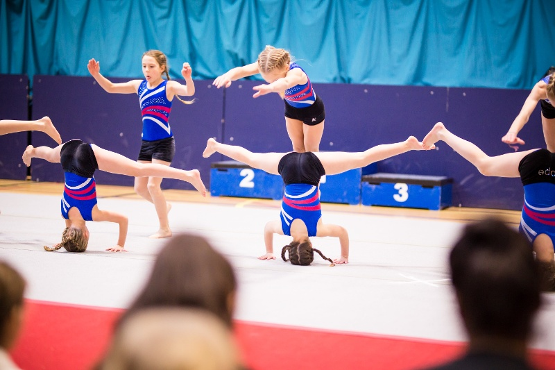 The display squad perform at the Flair Championships competition