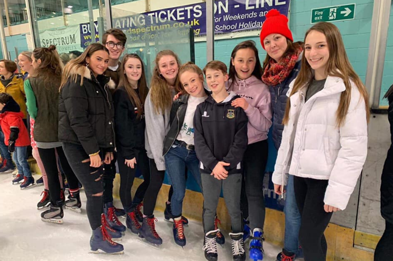 Gymnastics coaches go ice skating at Guildford Spectrum