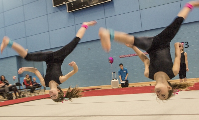 8 Reasons To Join The Display Squad - 2 children caught upside down doing somersaults
